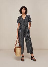 Elephant Print Jumpsuit Black/Multi