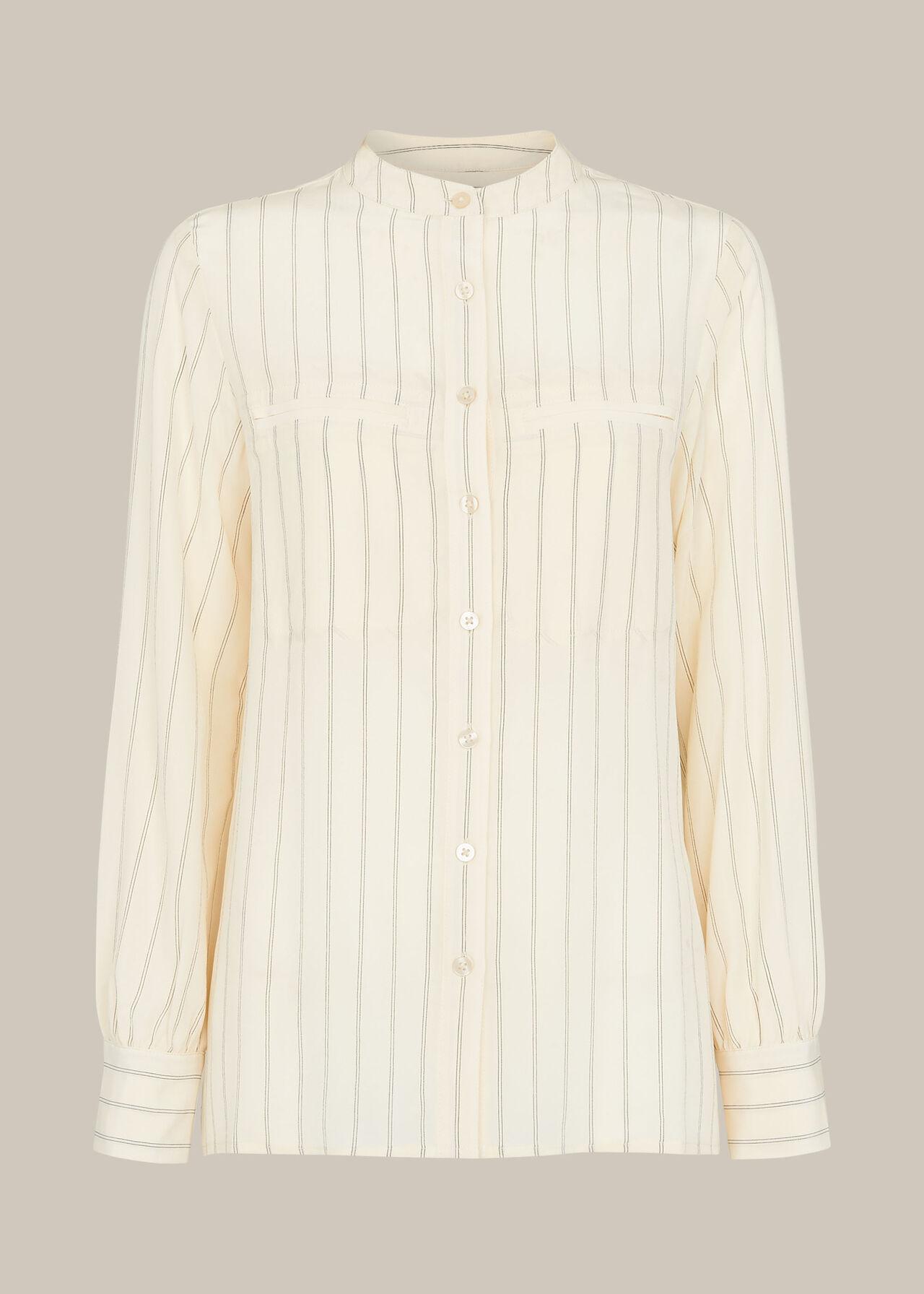 Stripe Silk Shirt