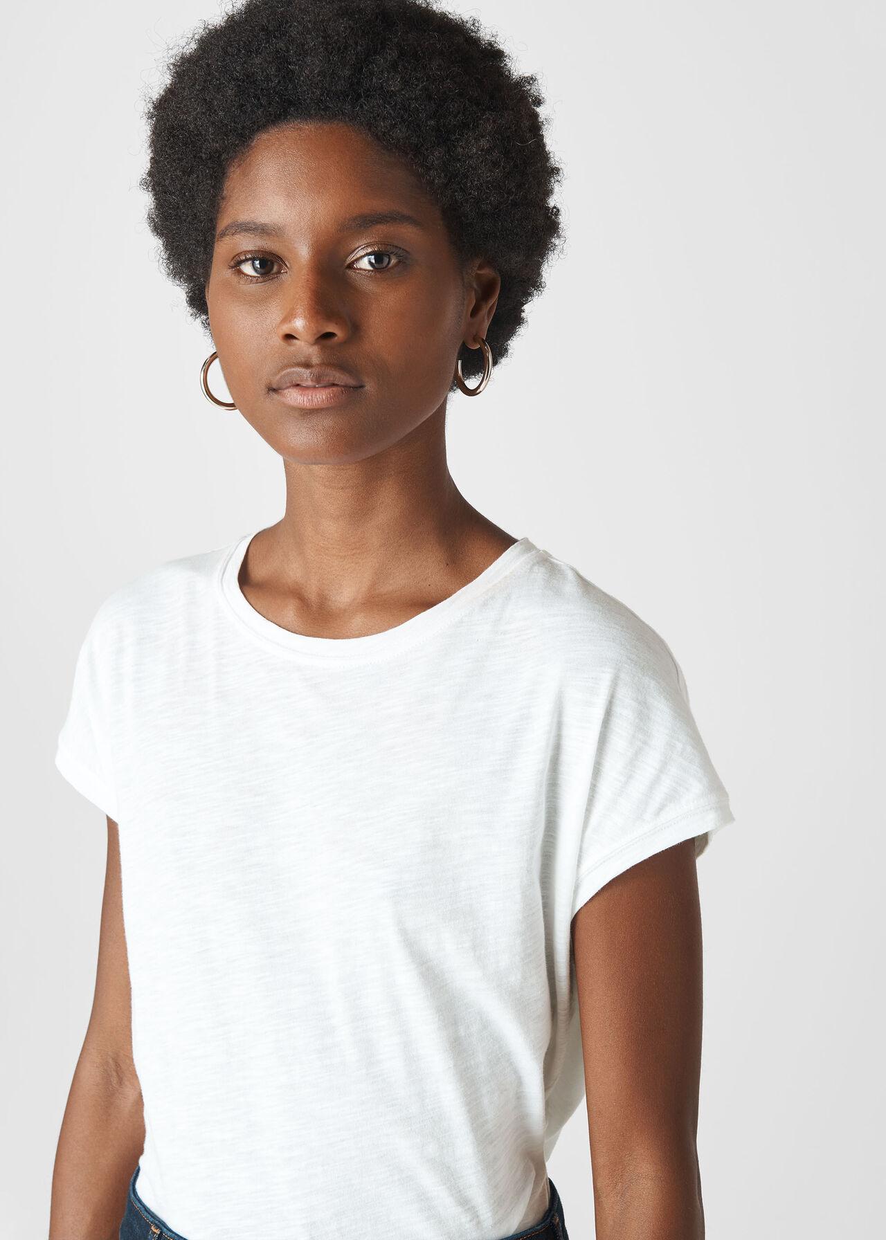 Minimal Cap Sleeve Tee White