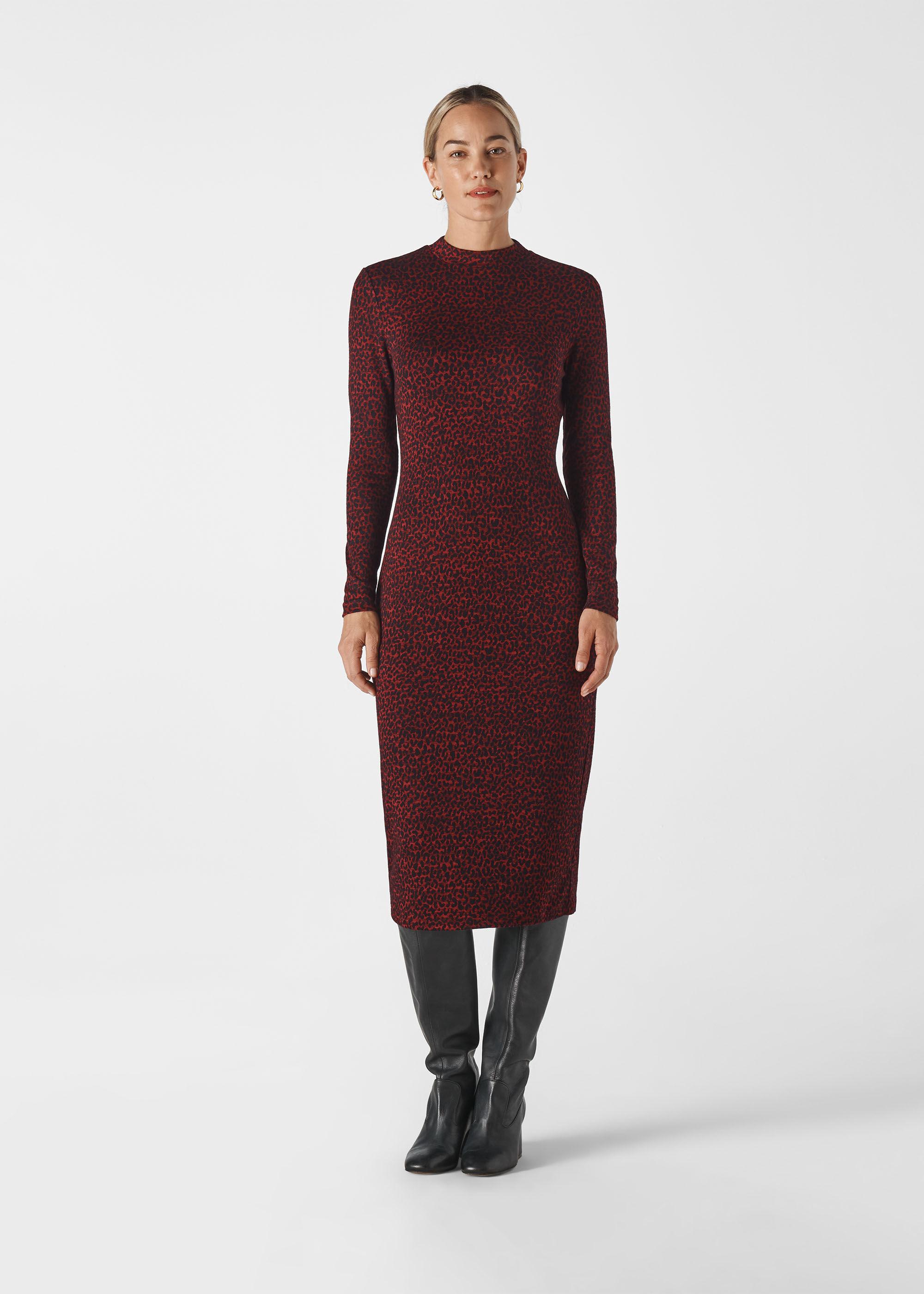 Whistles Women Animal Jersey Jacquard Dress