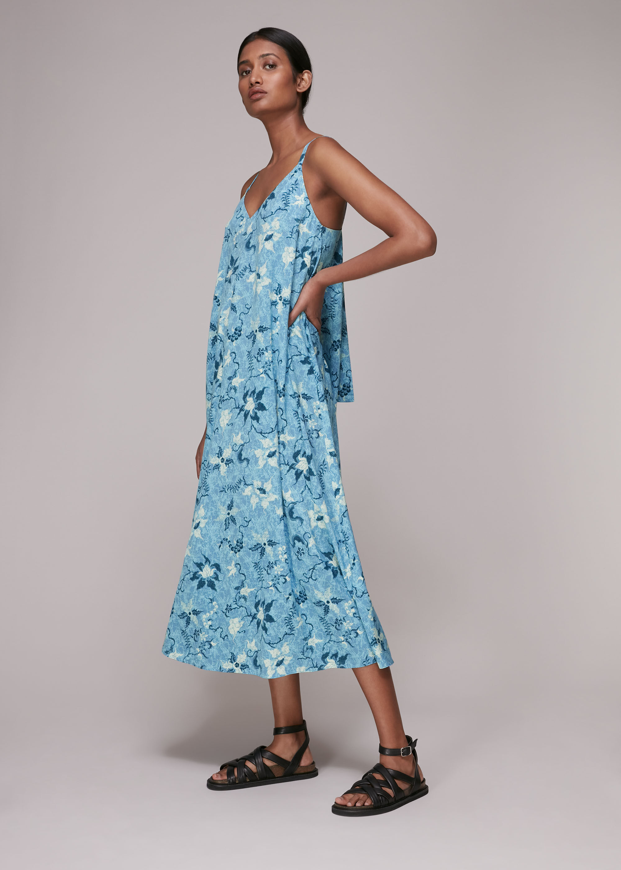 Whistles Women Cecilia Batik Garland Dress