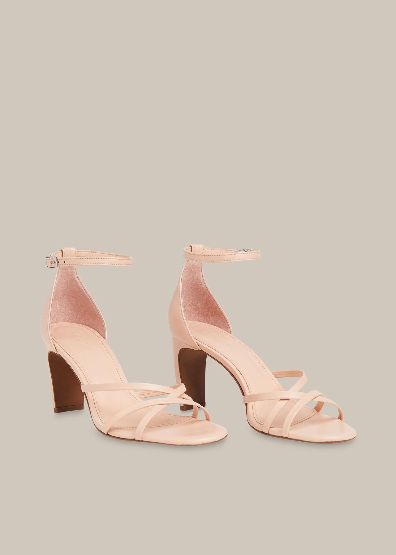 Hallie Strappy High Sandal Pale Pink