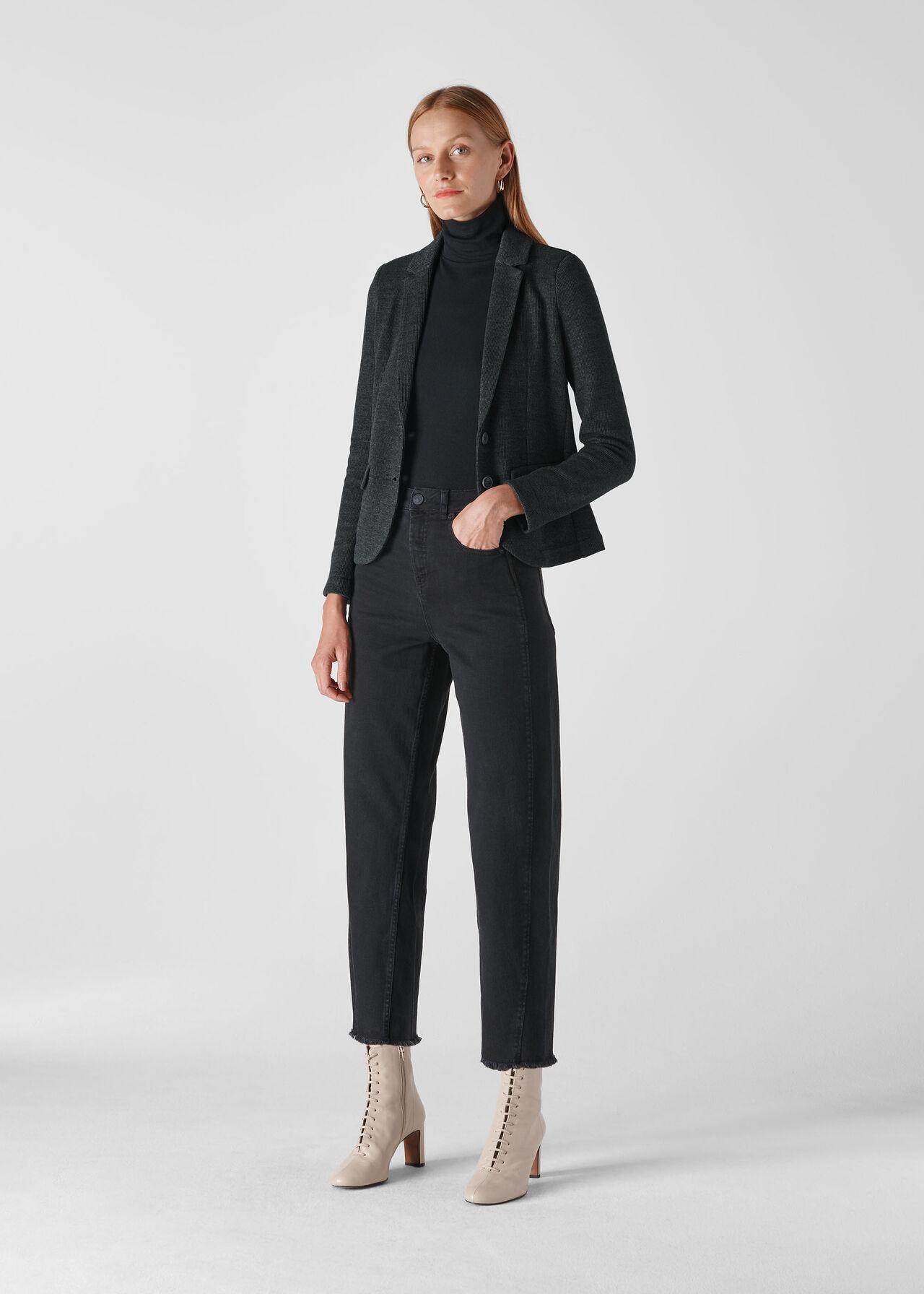 Slim Jersey Jacket Dark Grey