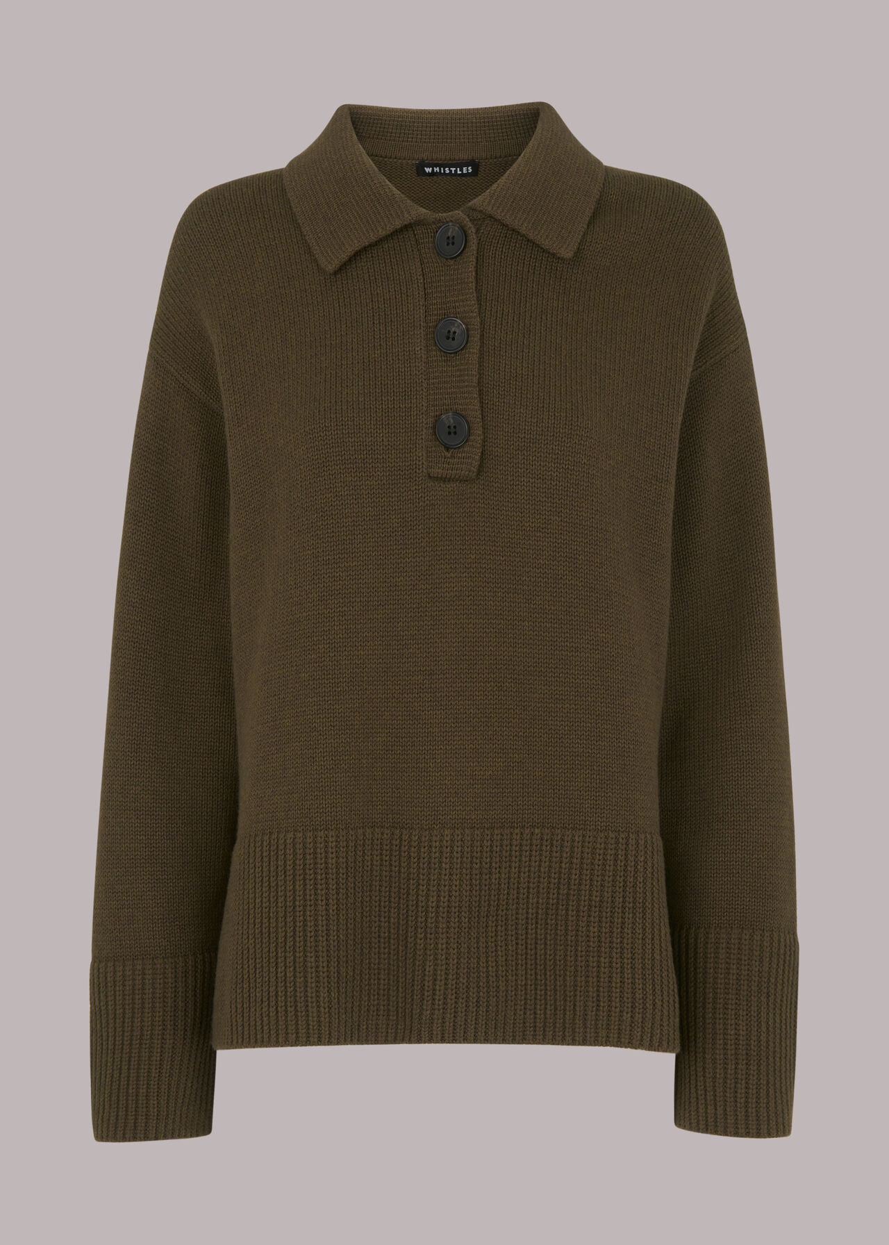 Button Front Polo Knit