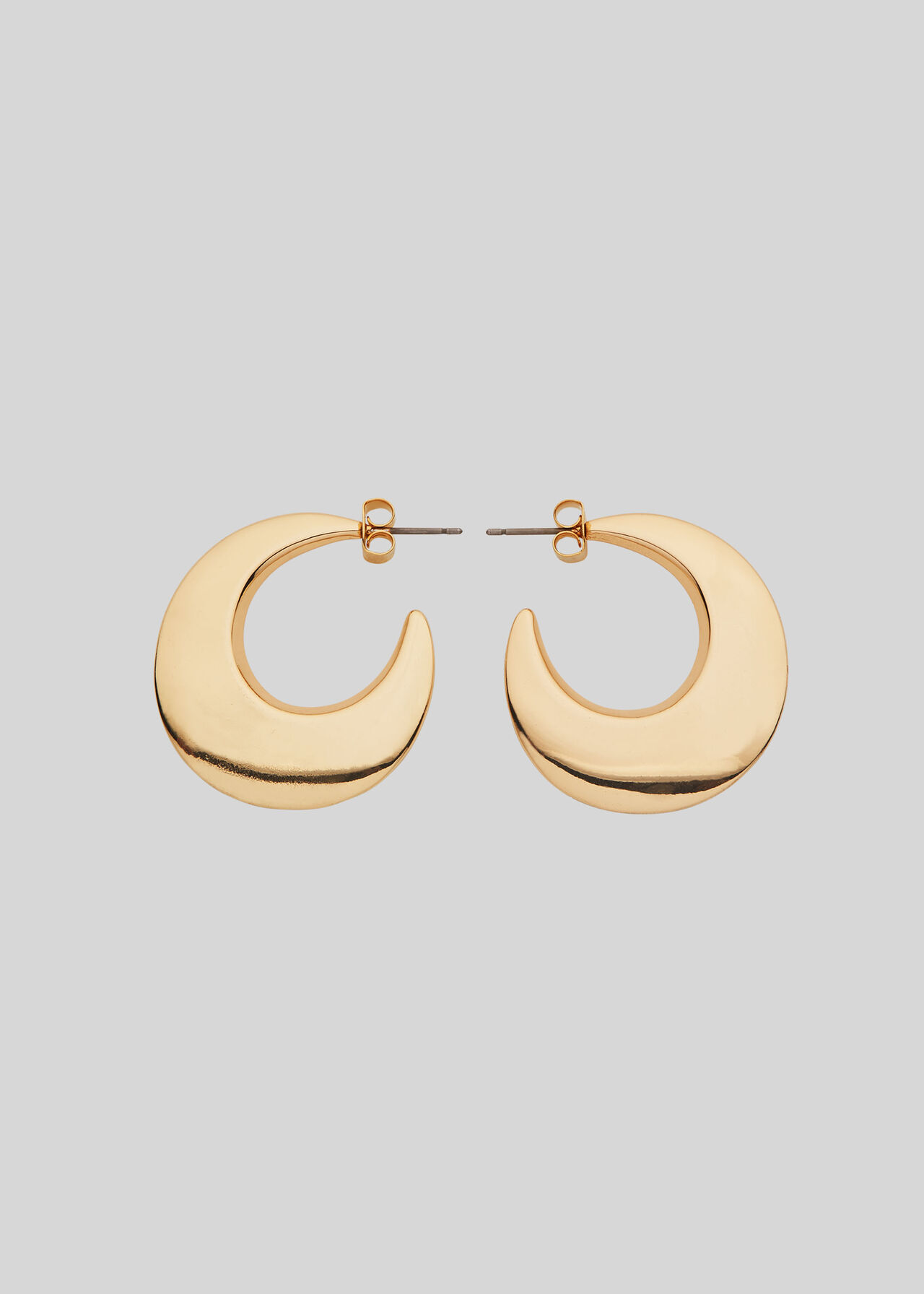 Crescent Hoop Earring Gold/Multi