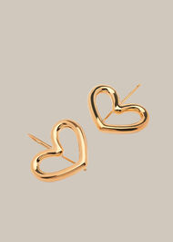 Tubular Heart Drop Earring