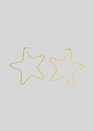 Star Seed Bead Earring Gold/Multi