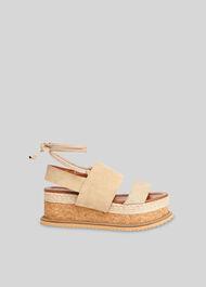 Rae Flatform Sandal Stone