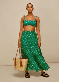Primula Print Beach Skirt Green/Multi