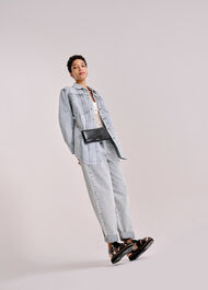 Acid Wash Denim Overshirt Denim