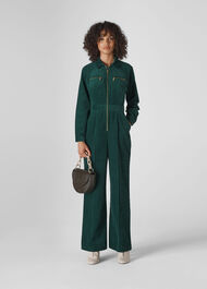 Corduroy Jumpsuit Dark Green