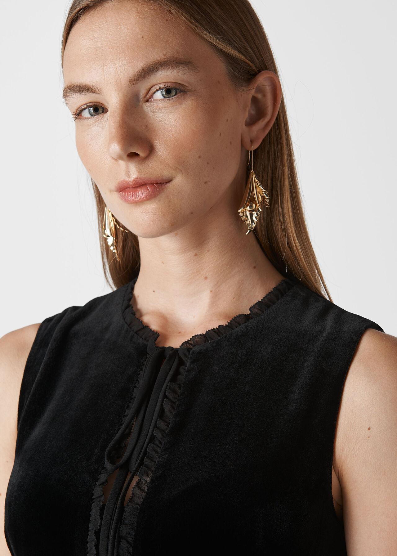 Florrie Silk Mix Jumpsuit Black