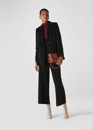 Cord Single Breasted Blazer Black