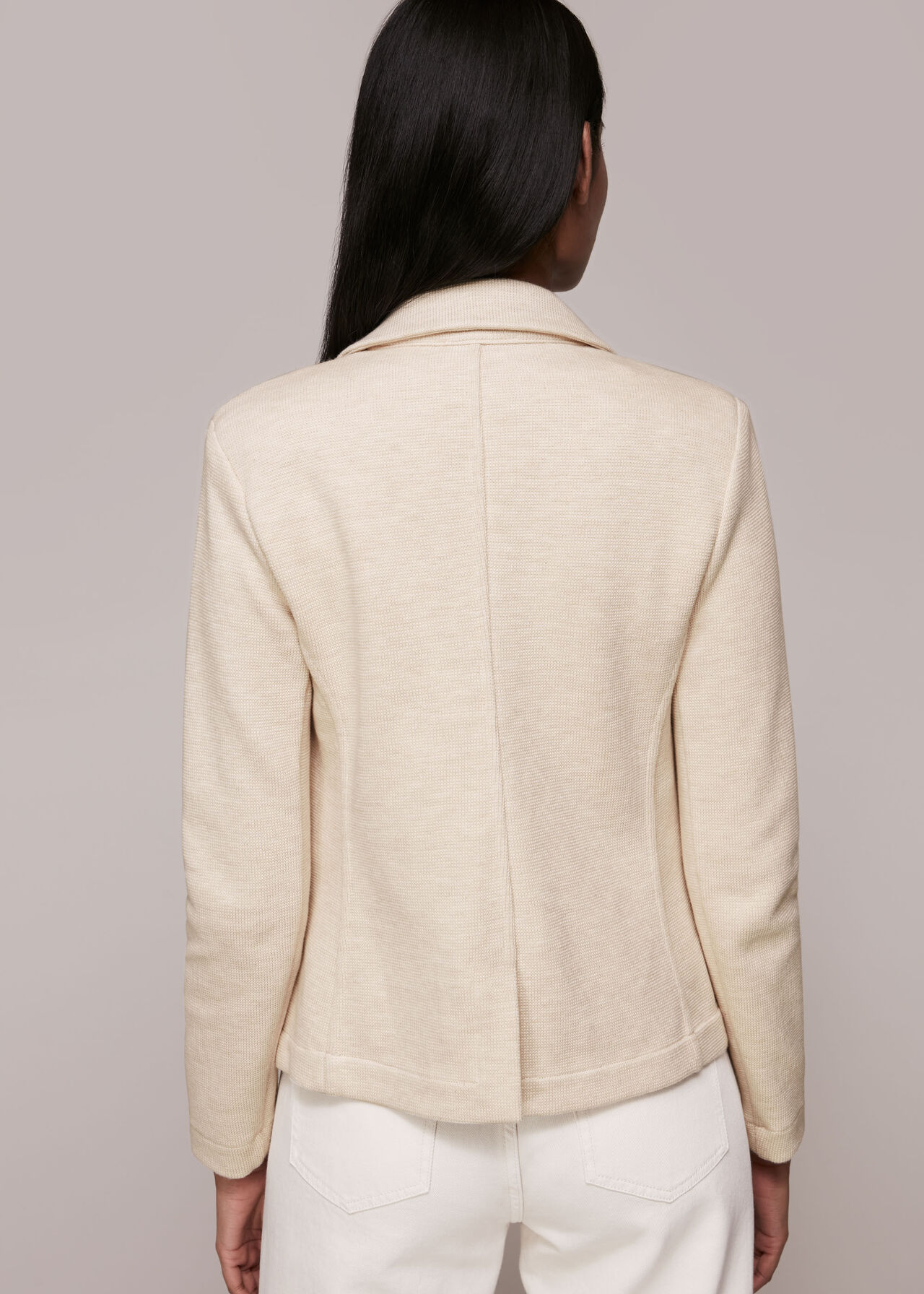 Slim Jersey Jacket Oatmeal