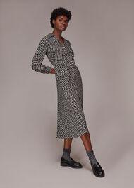 Landmark Print Midi Dress