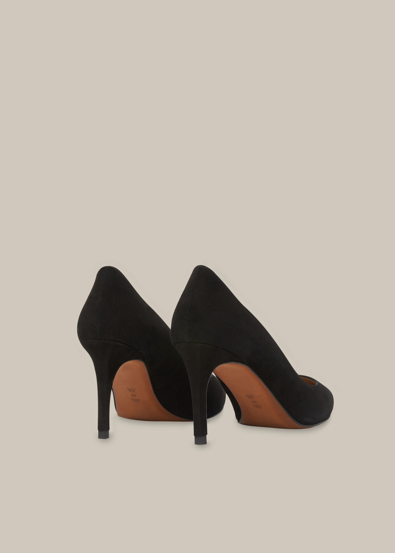 Cari Mid Suede Point Pump Black