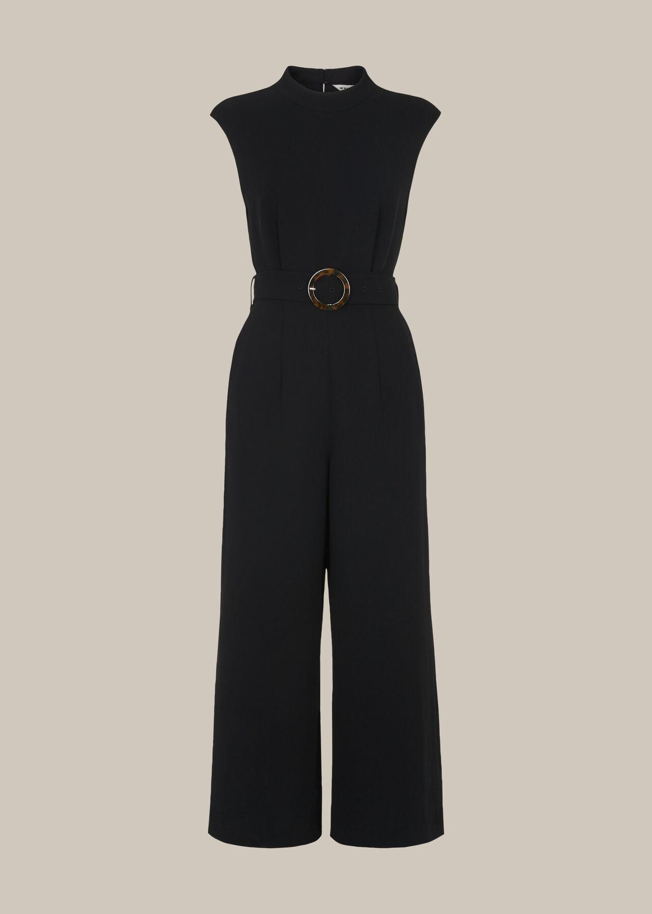 Penny Belted Jumpsuit Black
