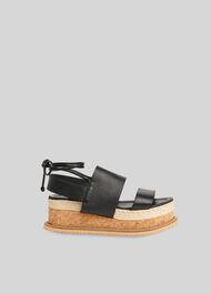Rae Flatform Sandal Black