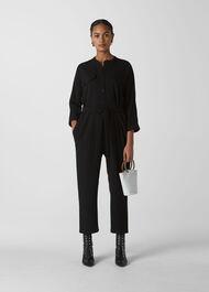 Utility Crepe Jumpsuit Black