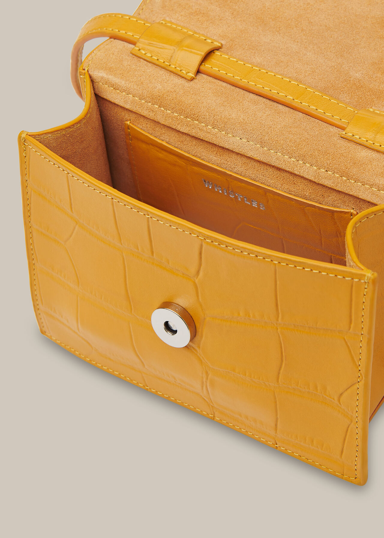 Suri Mini Croc Crossbody