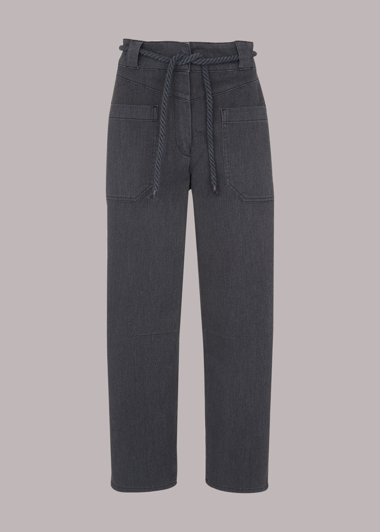 Rope Belted Casual Trouser