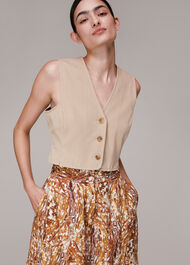 Marble Print Silk Shorts