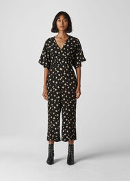Edelweiss Button Jumpsuit Black/Multi
