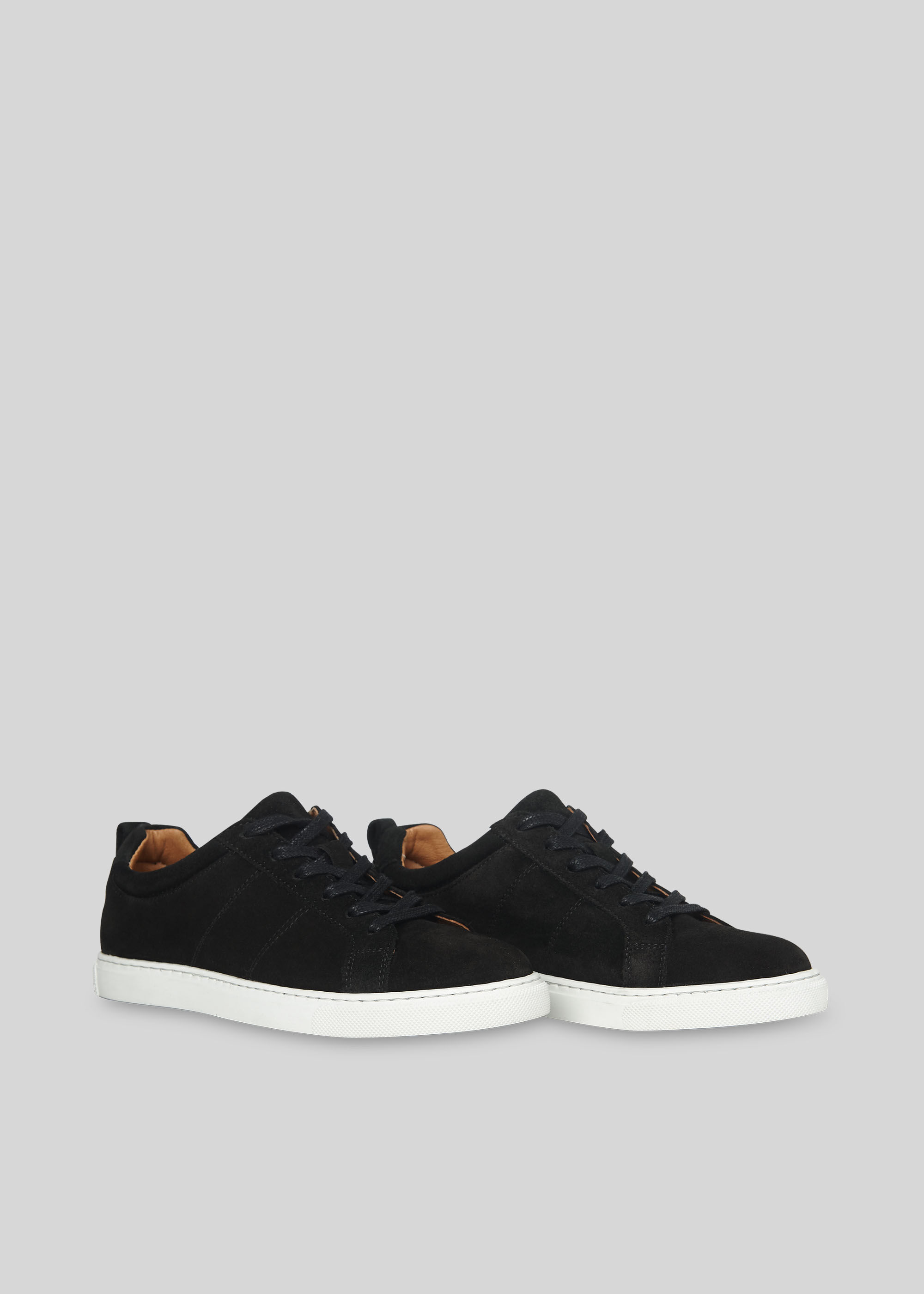 Black Koki Suede Lace Up Trainer