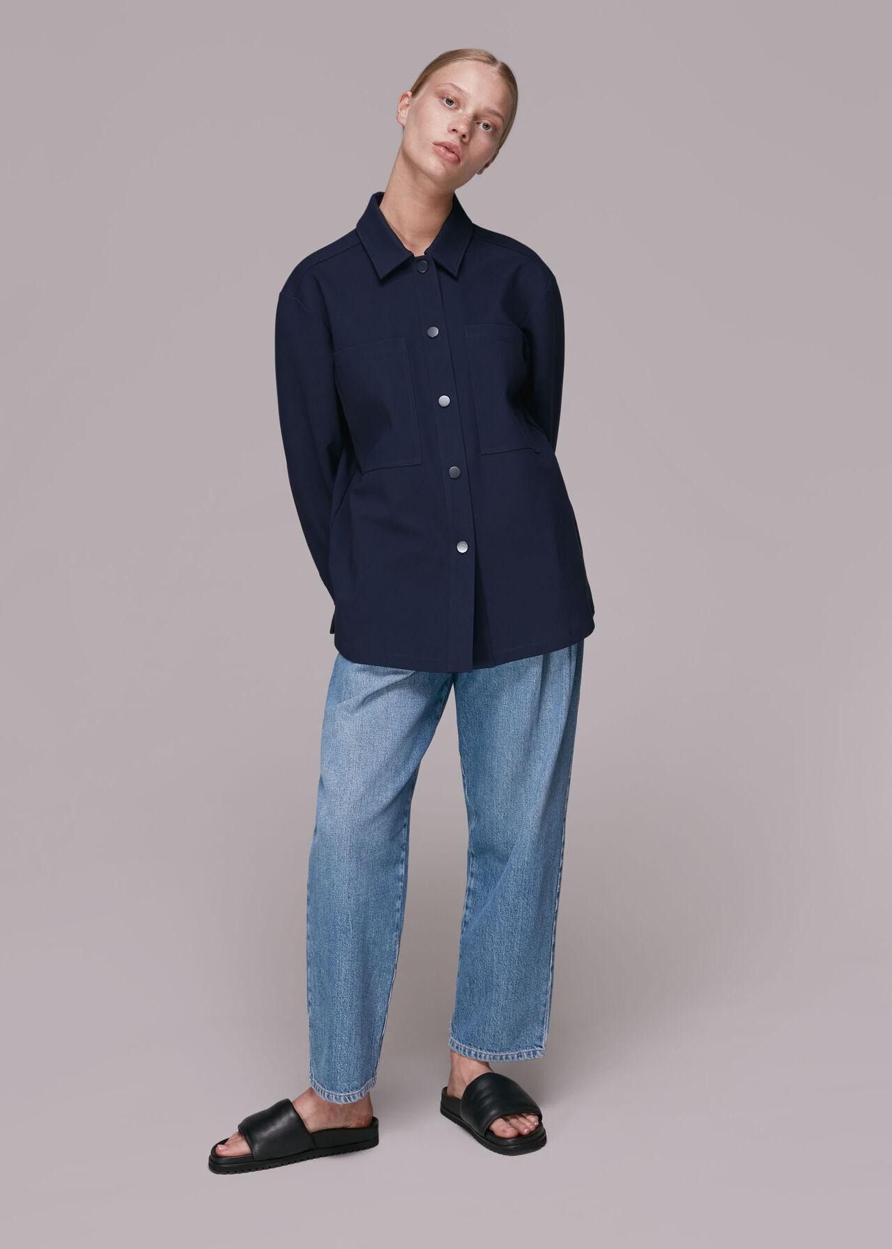 Ponte Jersey Overshirt