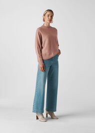 Dolman Cashmere Sweater Pale Pink