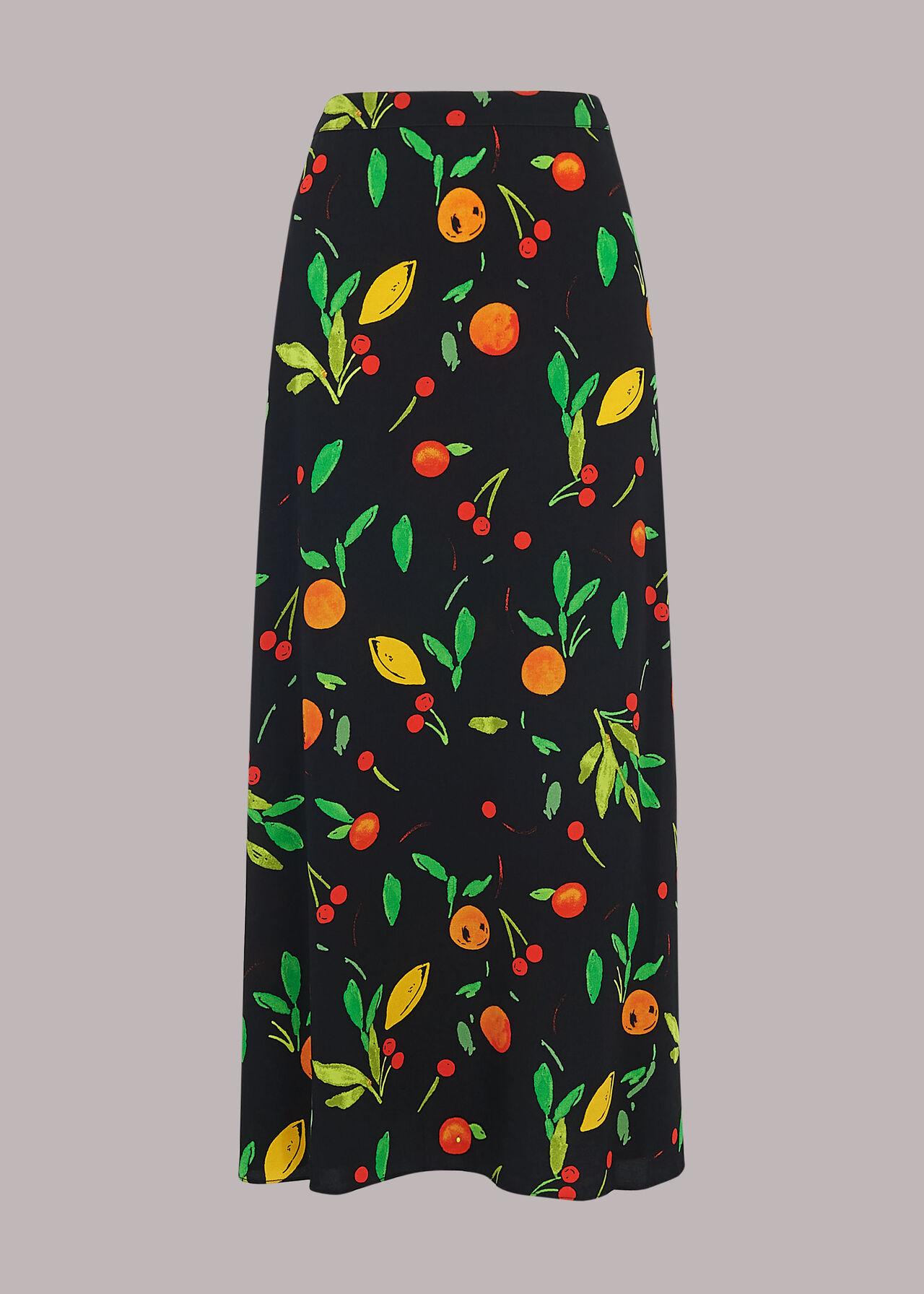 Fruit Print Skirt