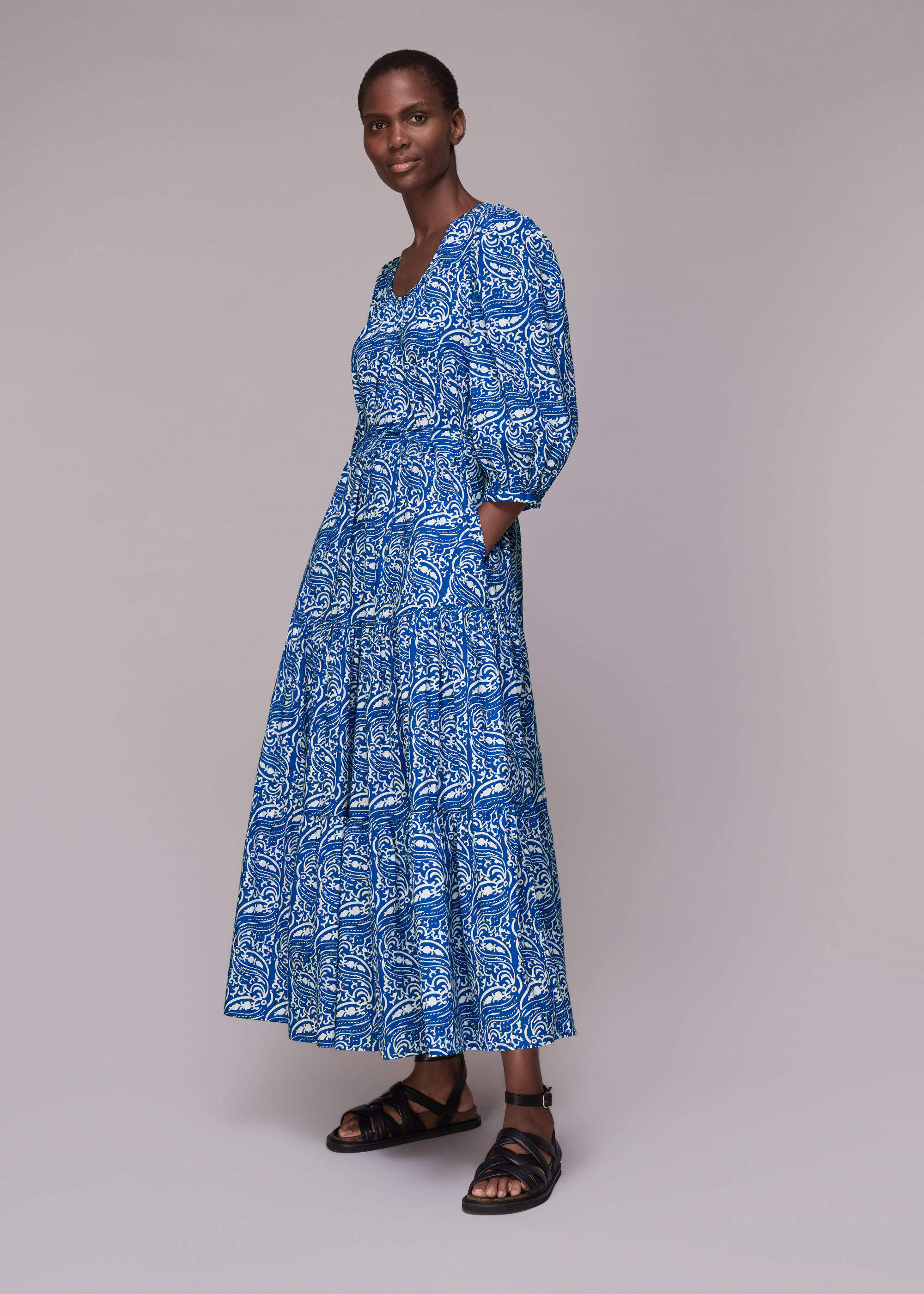 Whistles Women Chaina Print Trapeze Dress