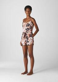 Fern Print Pyjama Short Pink/Multi