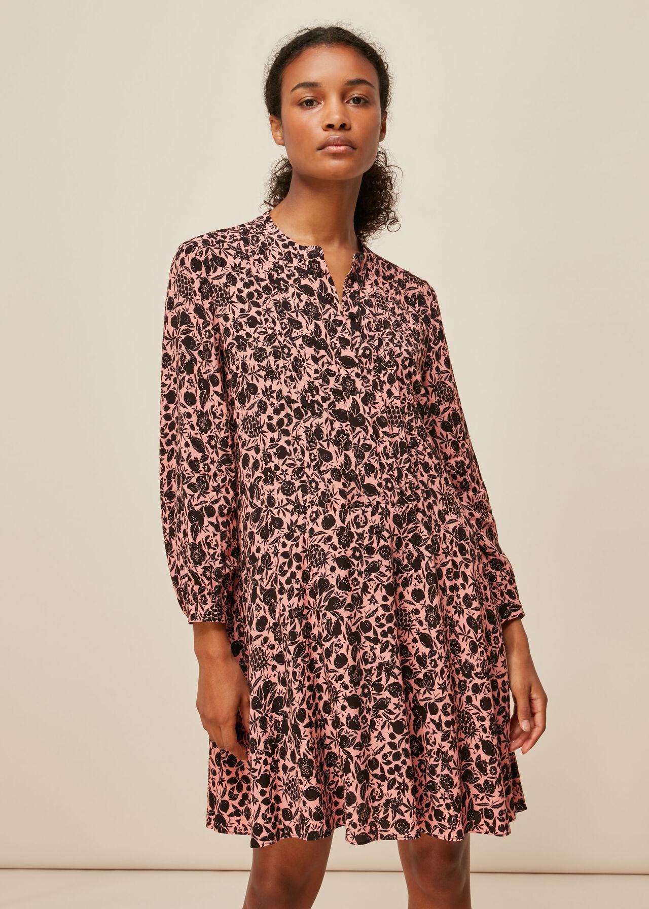 Tropical Fruit Print Dress