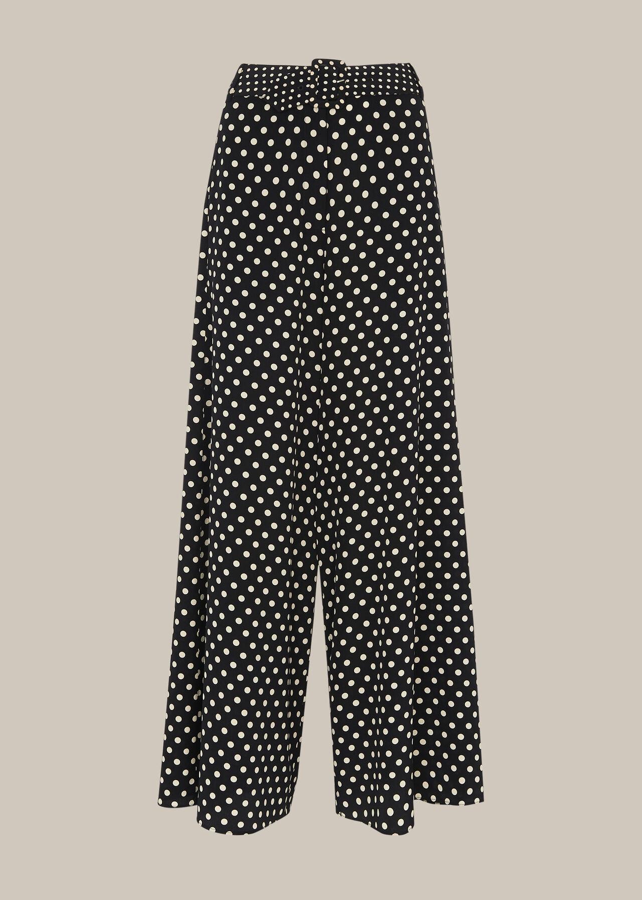 Spot Silk Palazzo Trouser