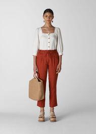 Leanora Linen Trouser Rust