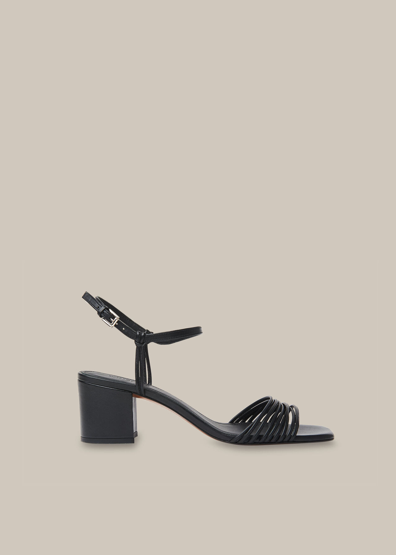 Hana Multi Strap Sandal Black