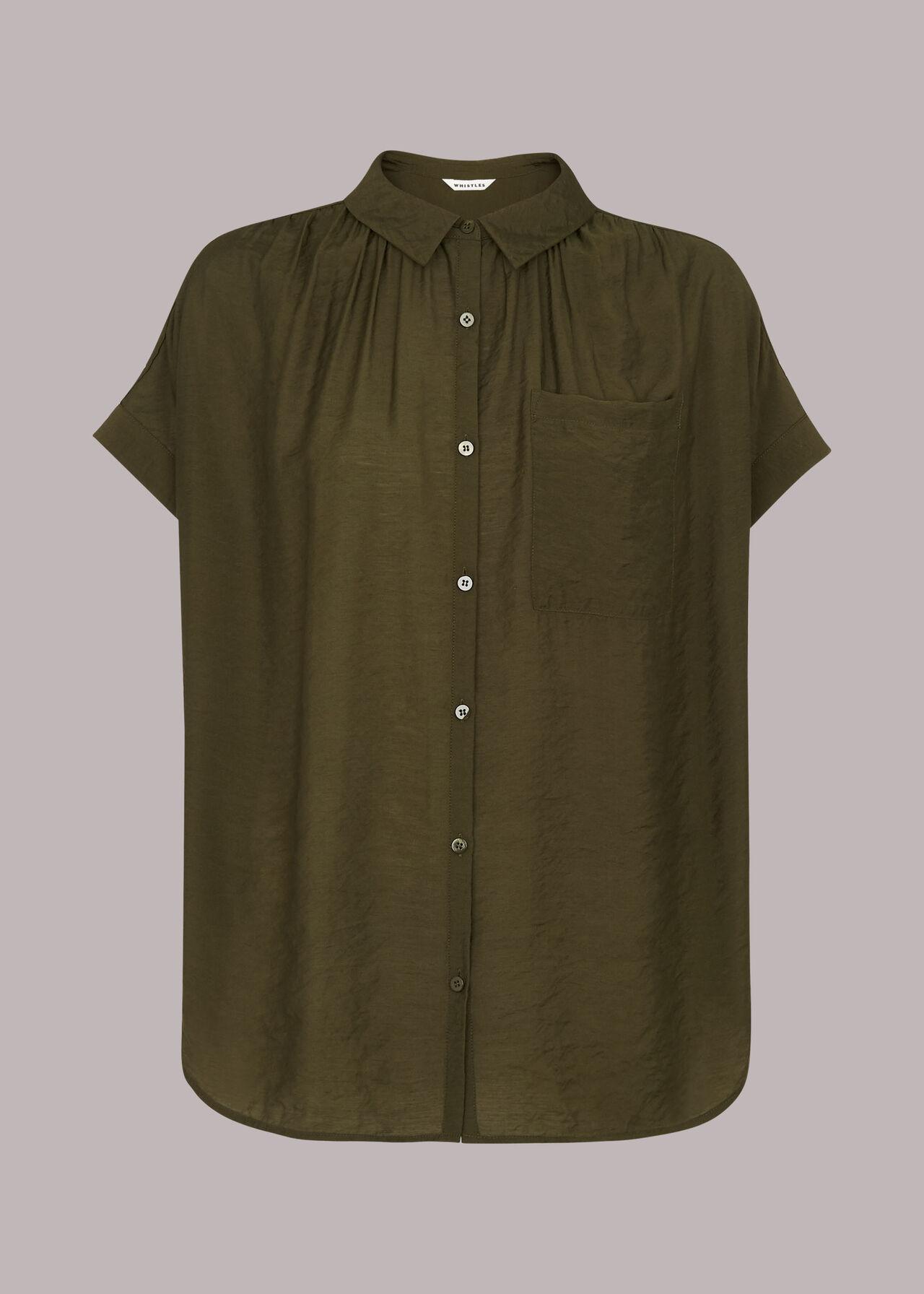 Nicola Button Through Shirt Khaki