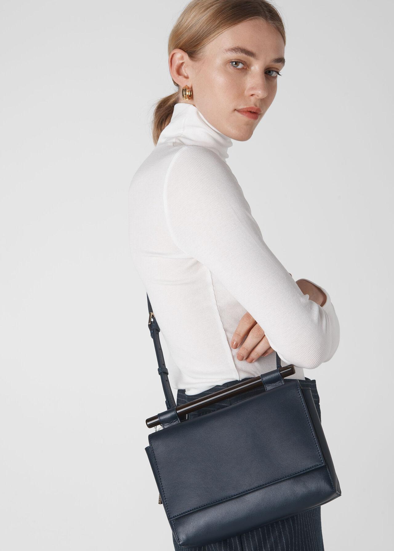 Mina Resin Bar Bag Navy