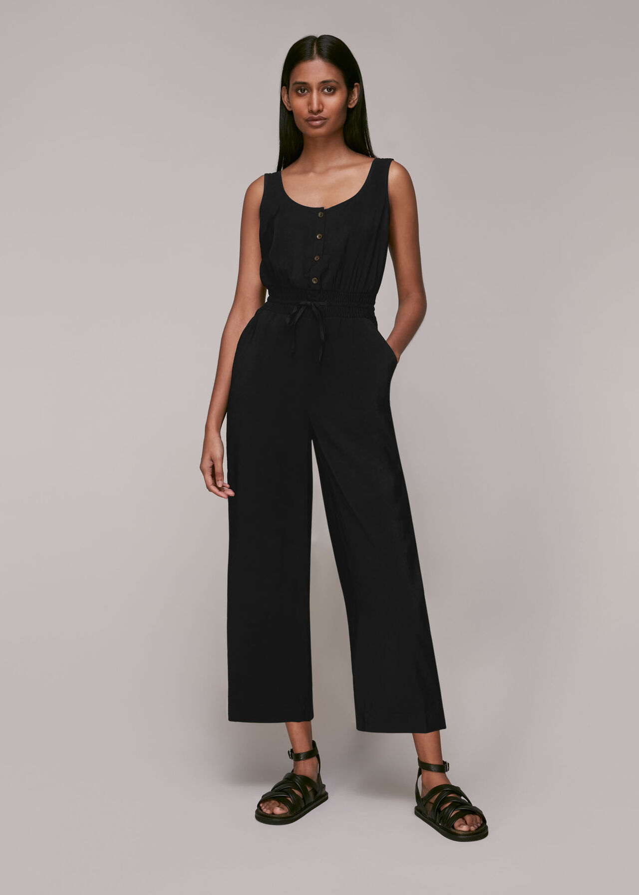 Quinn Casual Jumpsuit Black