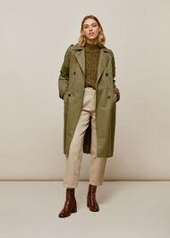 Izzey Trench Coat Khaki