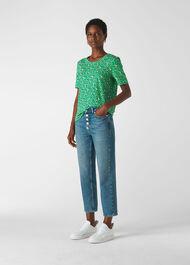 Ditsy Blossom Rosa TShirt Green/Multi