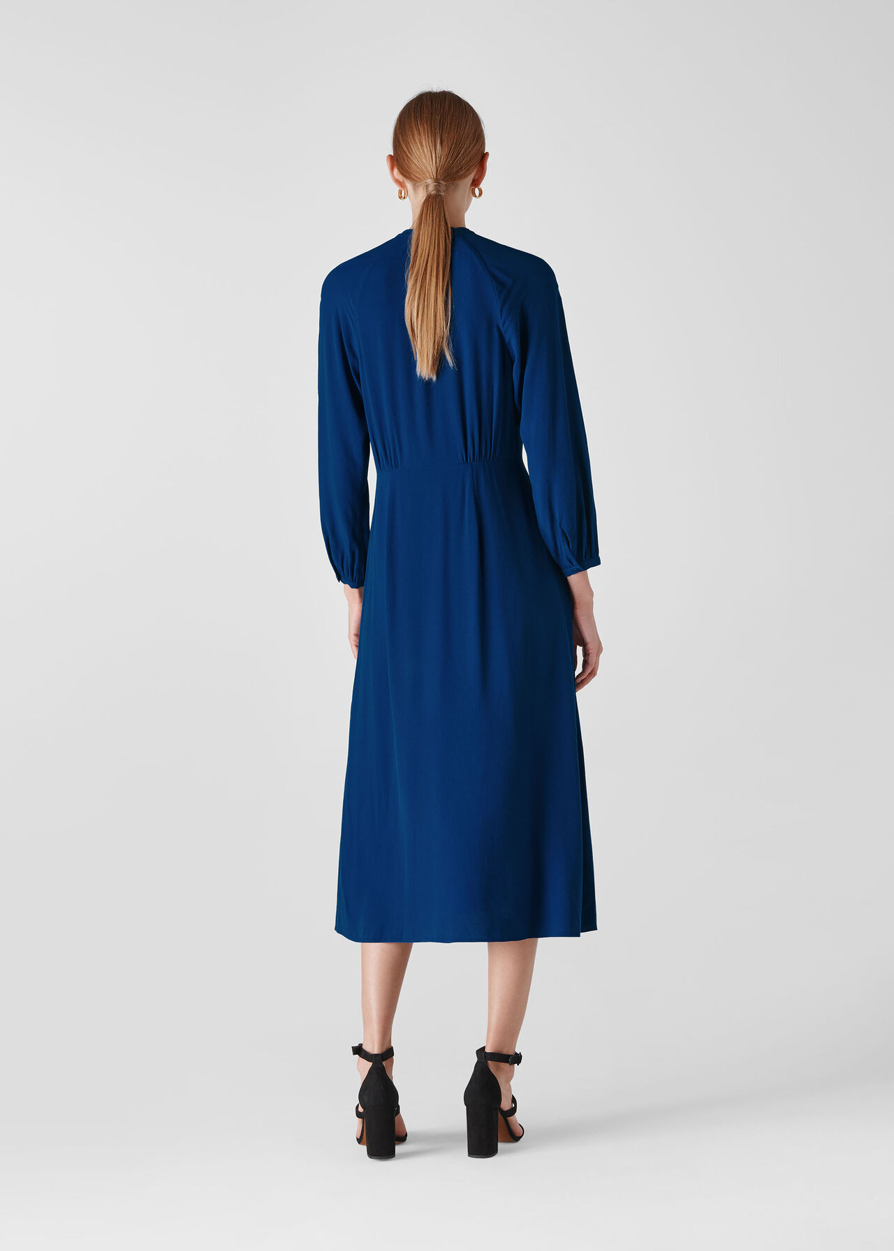 Eloise Textured Dress Dark Blue