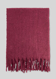 Open Weave Blanket Scarf Burgundy