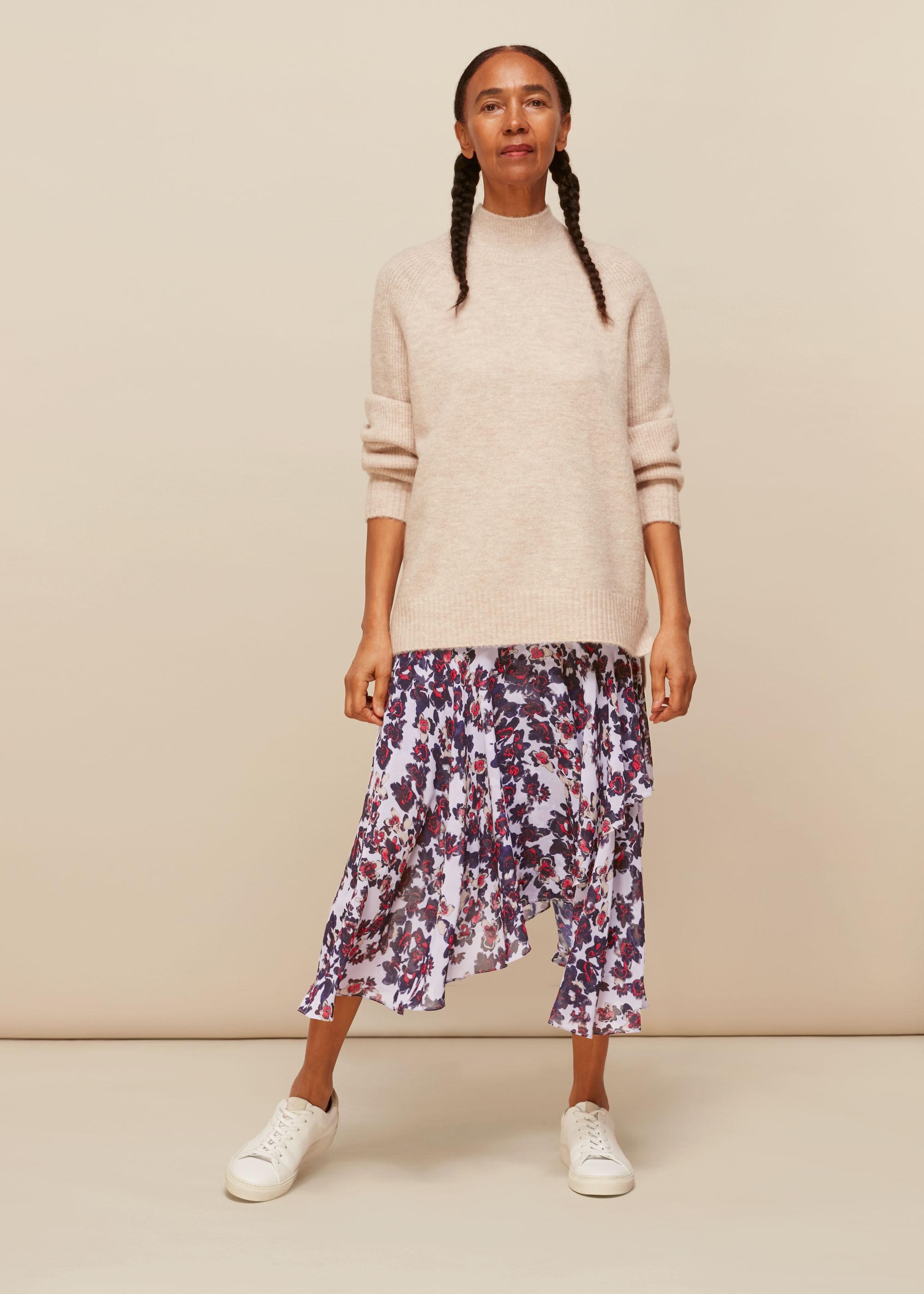 Whistles Women Floral Asymmetric Skirt