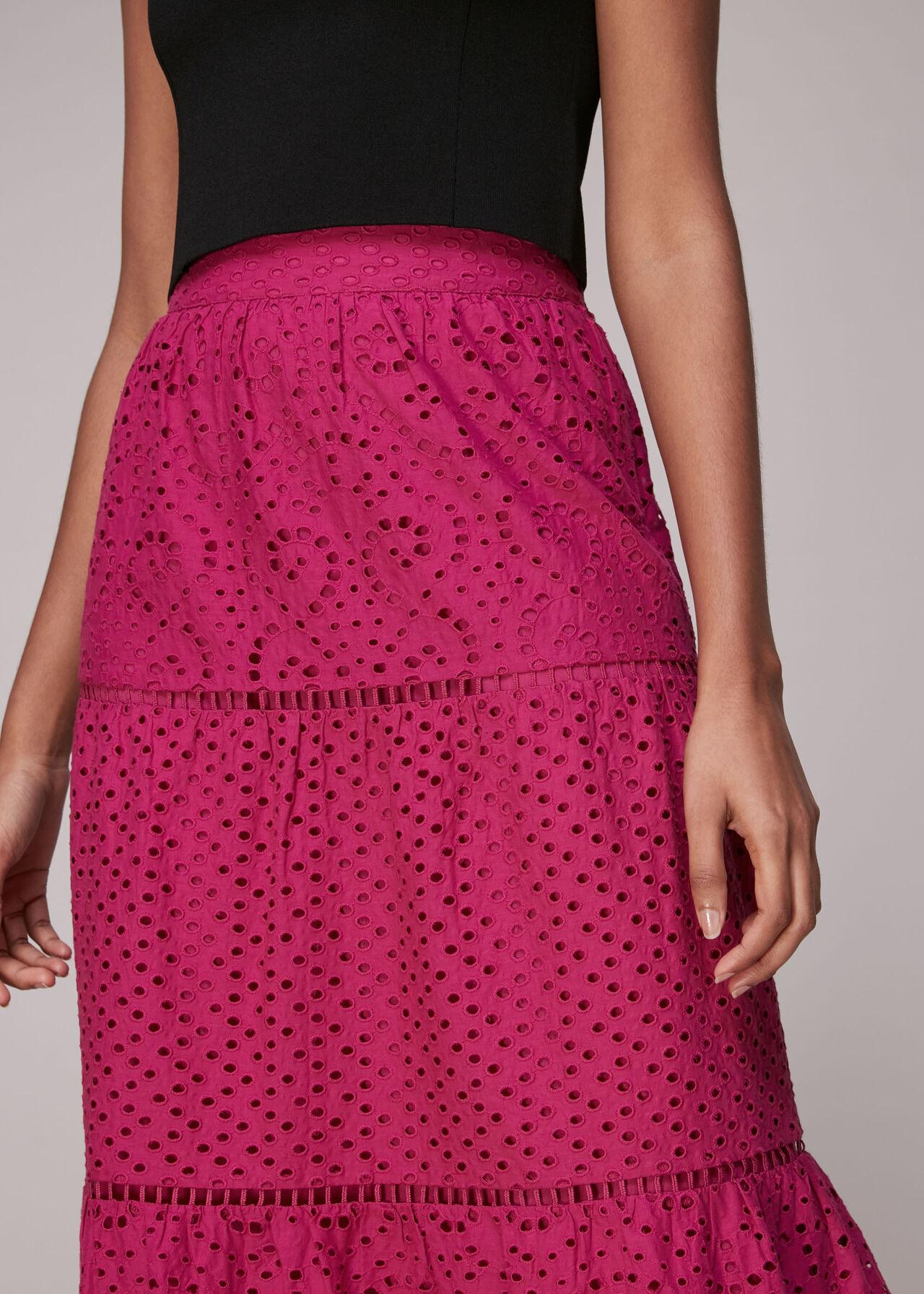 Broderie Midi Skirt