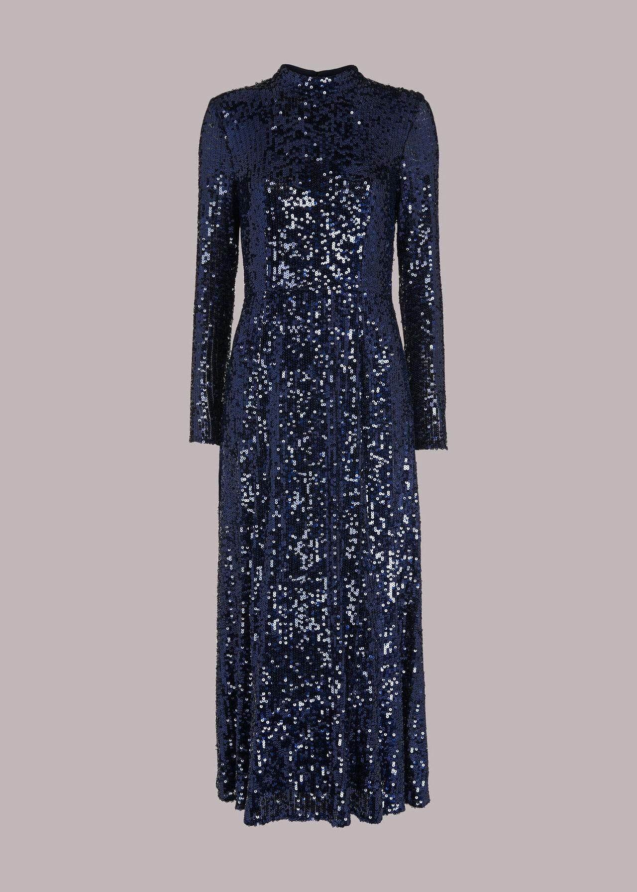 Minimal Sequin Midi Dress