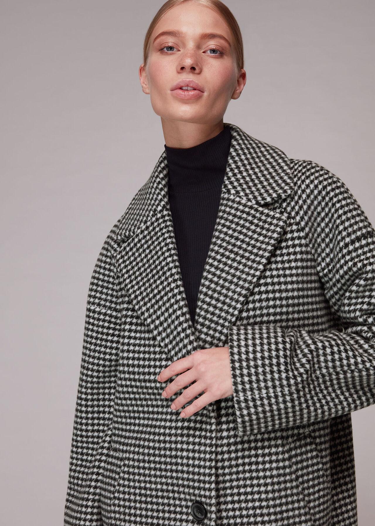 Mini Check Cocoon Coat