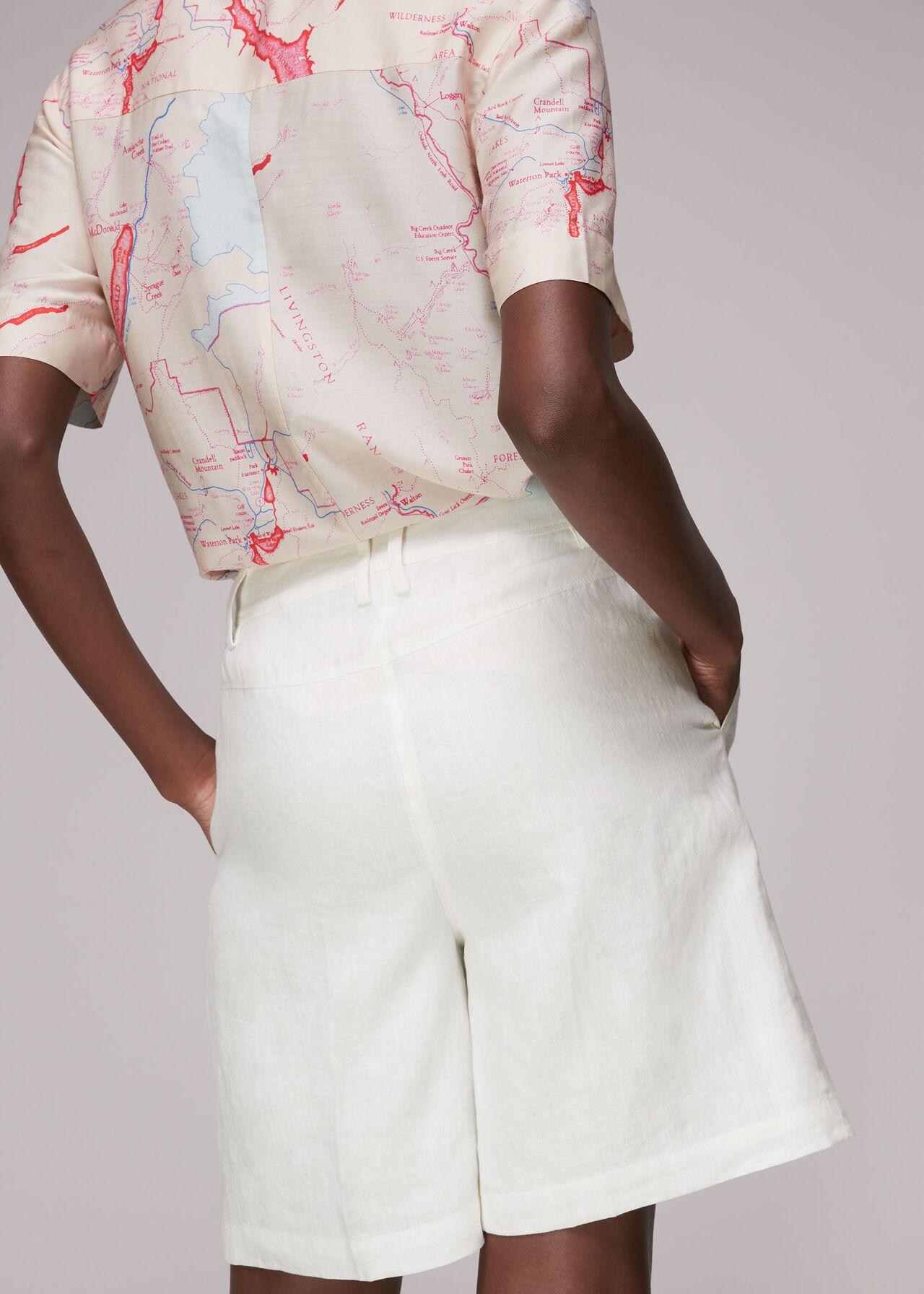 Tailored Linen Bermuda Shorts
