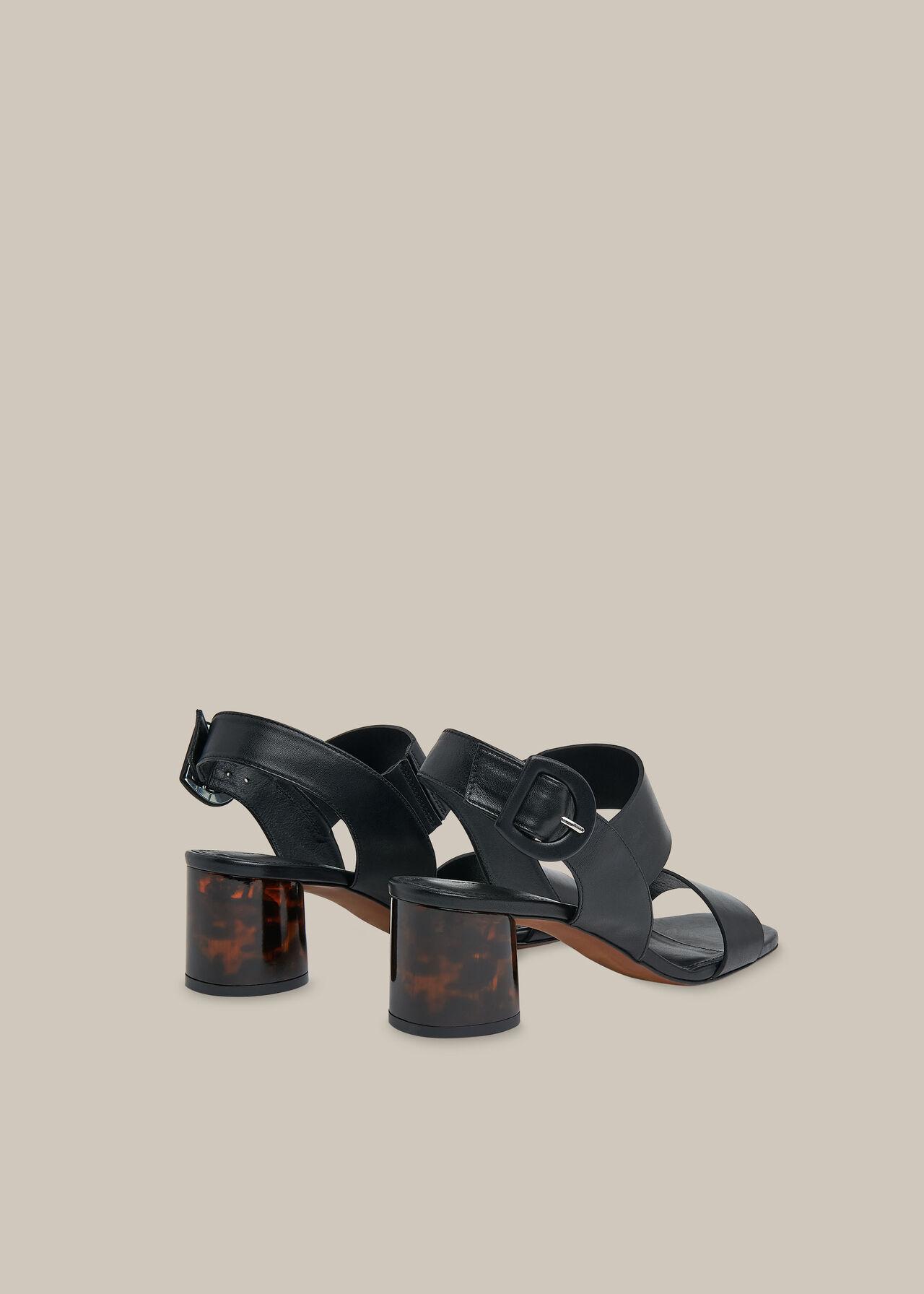 Adley Tort Detail Sandal Black